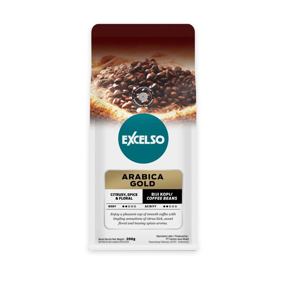 EXCELSO ARABICA GOLD BIJI 200G