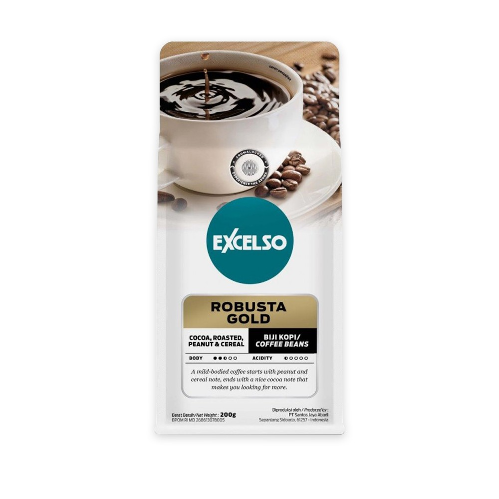 EXCELSO ROBUSTA GOLD BIJI 200G
